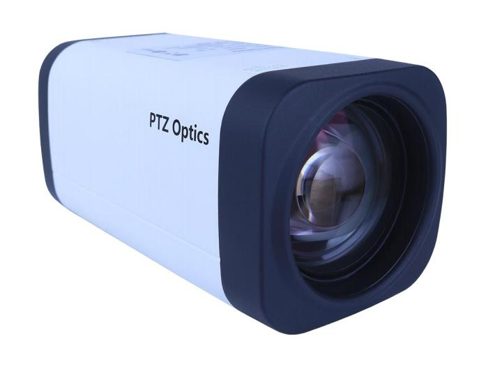 PTZOptics PT12X-ZCAM 12x 1080p HD-SDI Box Camera/3.5mm-42.3mm Lens/White