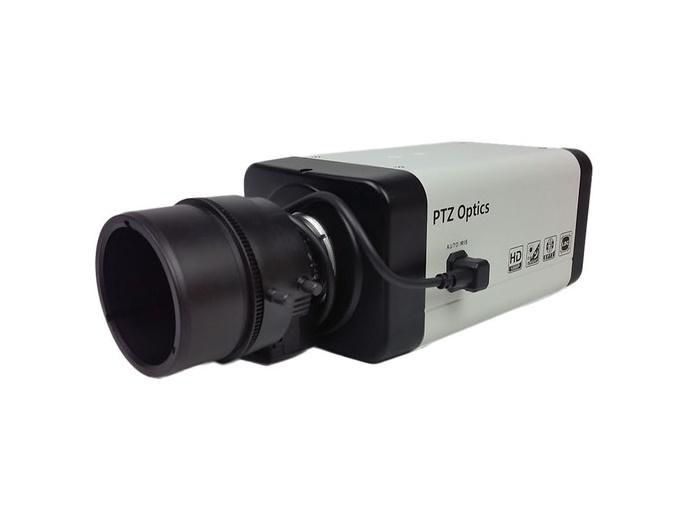 PTZOptics PTVL-ZCAM 2.7MP HD-SDI Box Camera with 4x Wide Angle Zoom Lens