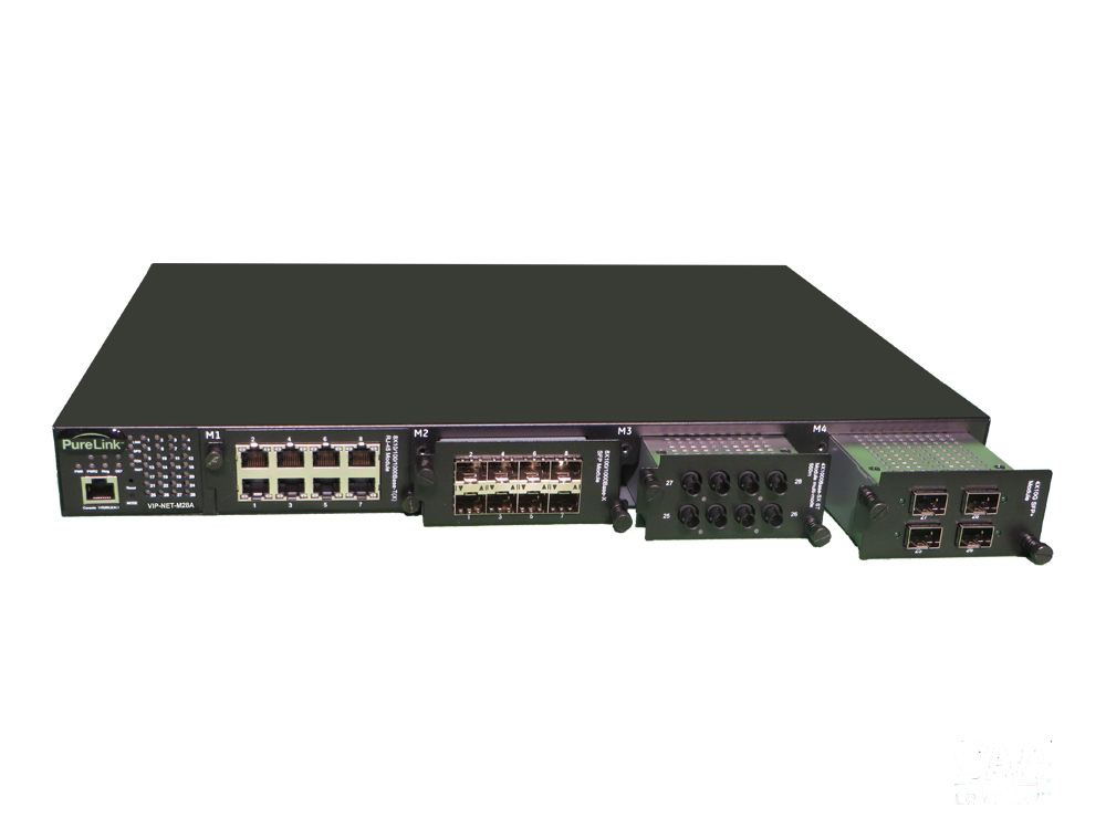 PureLink VIP-NET-M28A Layer 3 Modular Network 4-Port Media Hub with AVB - 1G/10G