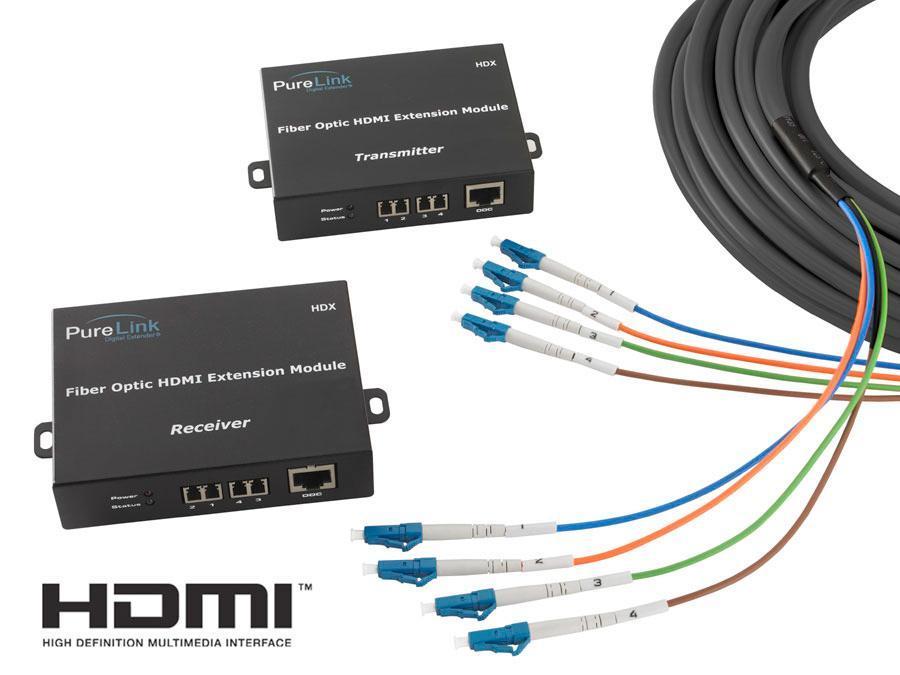PureLink HDX-040 Modular HDMI Fiber Optic Extension Cable System HDX-040 (133ft)