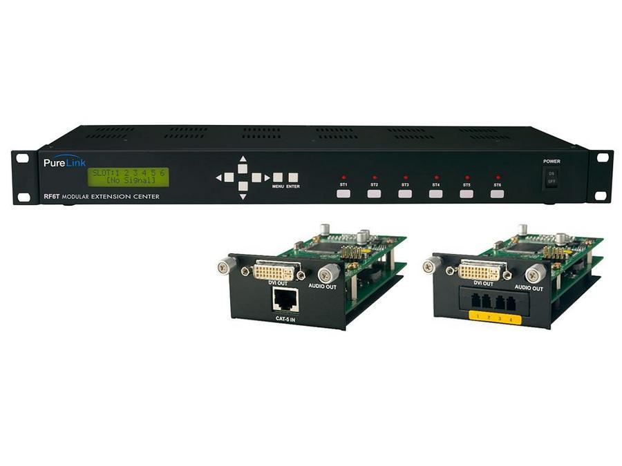 PureLink RF6R RF6R Rack Mountable Modular Receiveing Extension Center for DVI