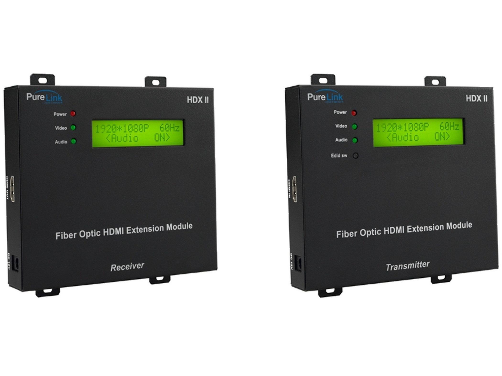 PureLink HDX II Tx/Rx HDMI over 4LC Fiber Optic Full HD Extender (Receiver/Transmitter) Kit