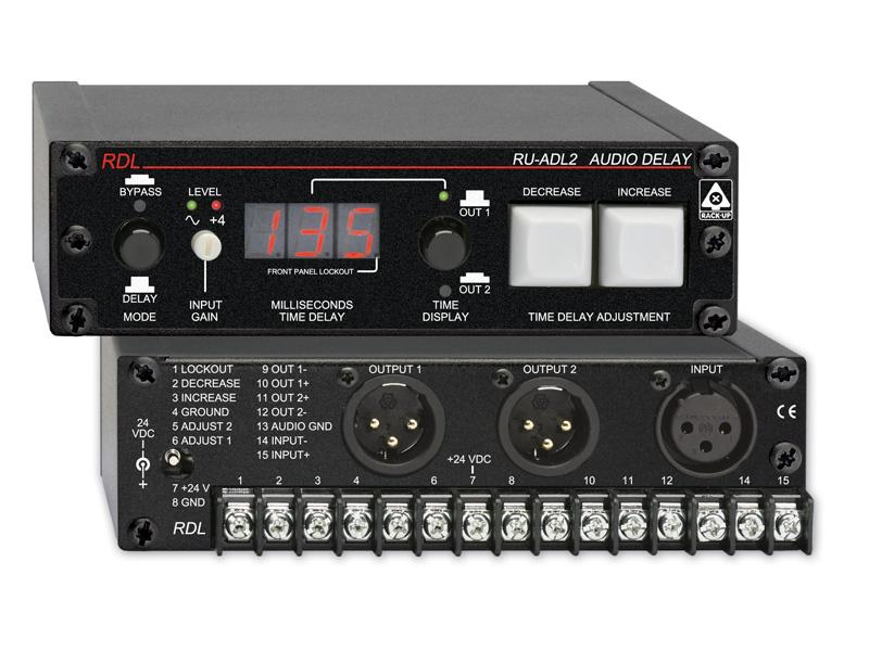 RDL RU-ADL2 Professional Audio Delay