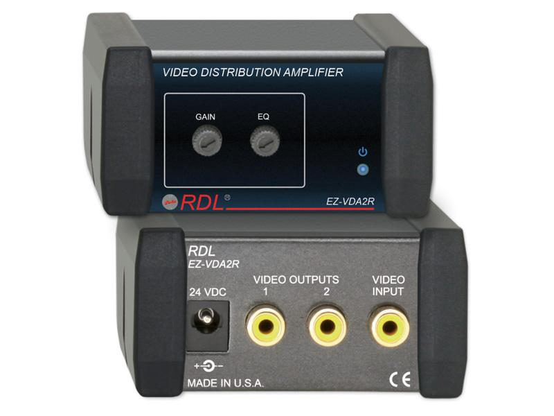 RDL EZ-VDA2R 1X2 RCA NTSC/PAL Video Distribution Amplifier