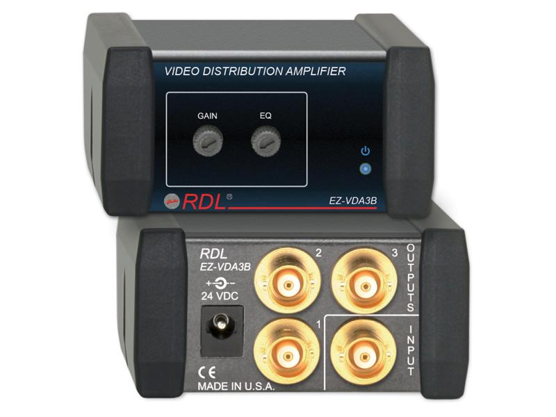 RDL EZ-VDA3B 1X3 BNC NTSC/PAL Video Distribution Amplifier