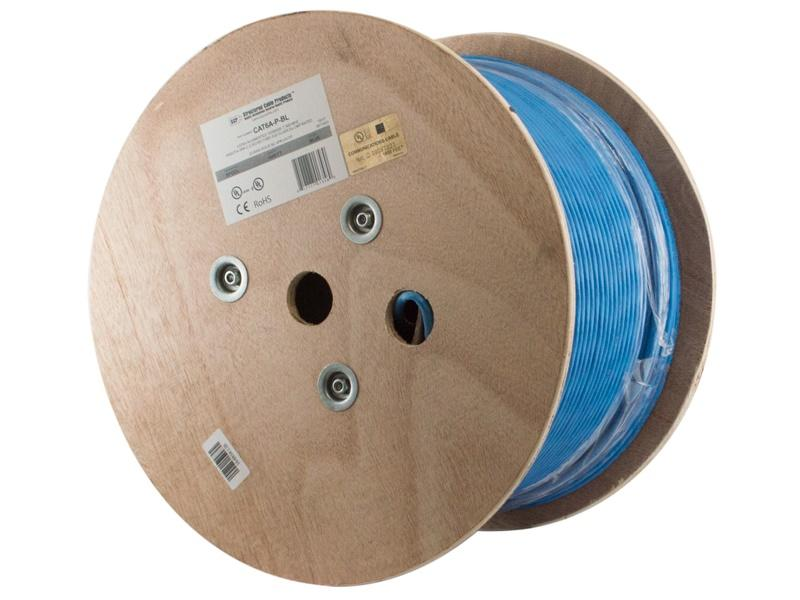 SCP CAT6A-P-BL 1000ft CAT6A Augmented Plenum 10GBASE-T UTP Cable/Blue
