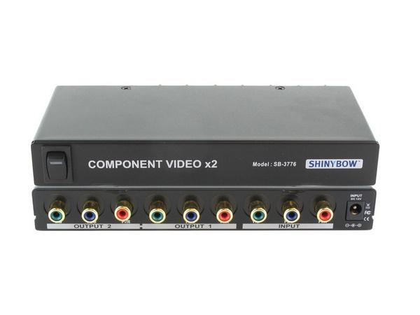 Shinybow SB-3776RCA 1x2 Component Video Splitter Distribution Amplifier (w/o audio) (RCA)