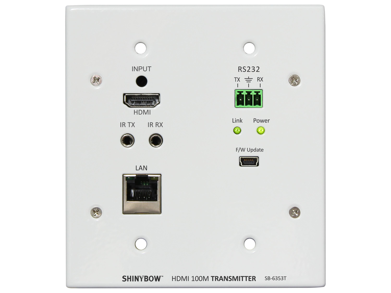 Shinybow SB-6353T HDMI HDBaseT Wall Plate Extender (Transmitter)/PoH/IR/RS-232