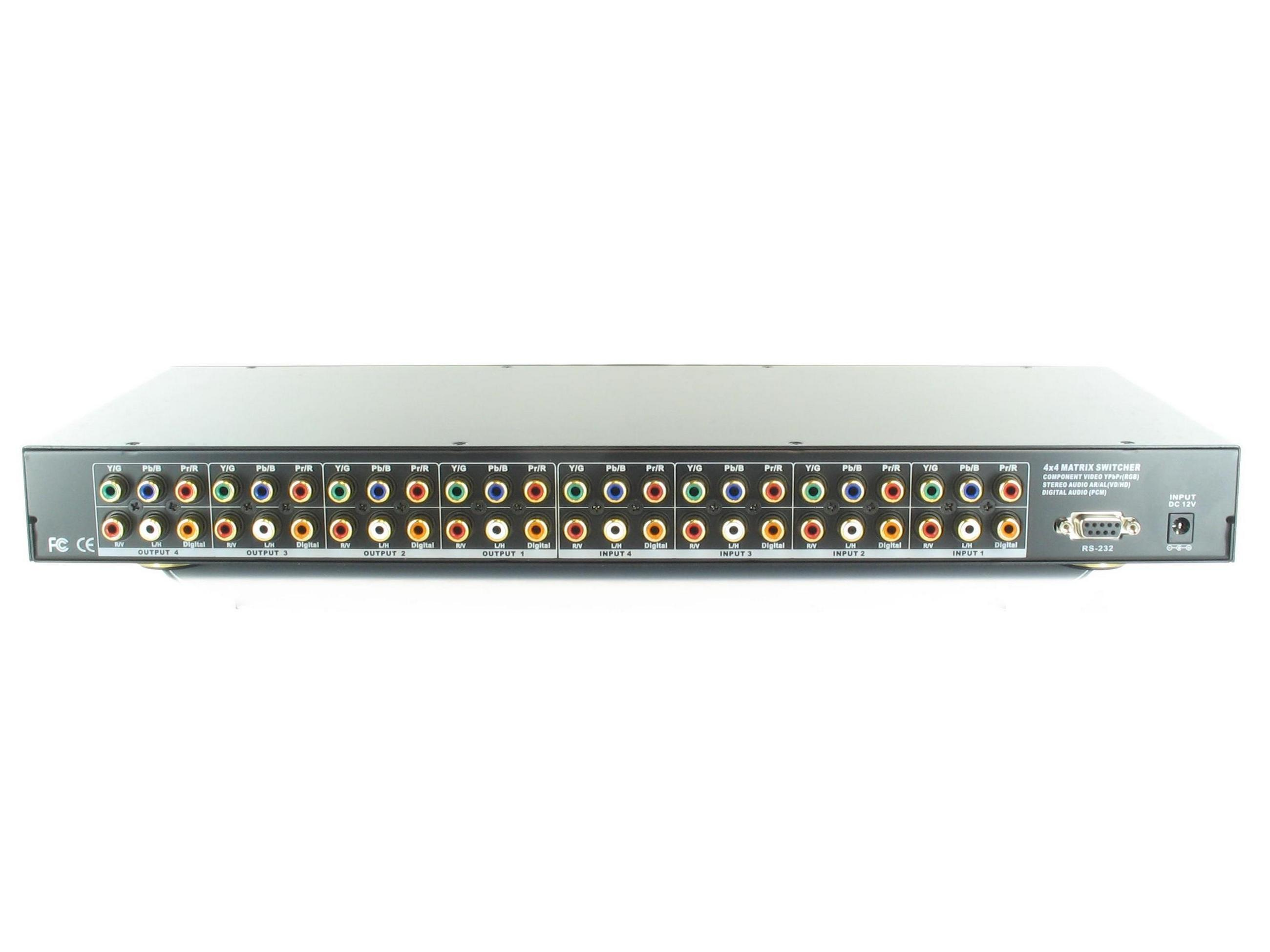 Shinybow SB-5644 4x4 Component Video Digital/Analog Audio Matrix Switch
