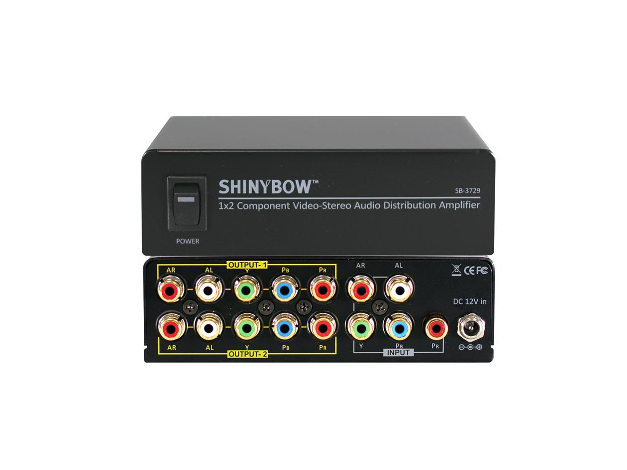 Shinybow SB-3729 1x2 Component Video Distribution Amplifier w Stereo Audio