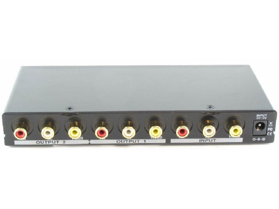 Shinybow SB-3772 1x2 AV Distribution Amplifier