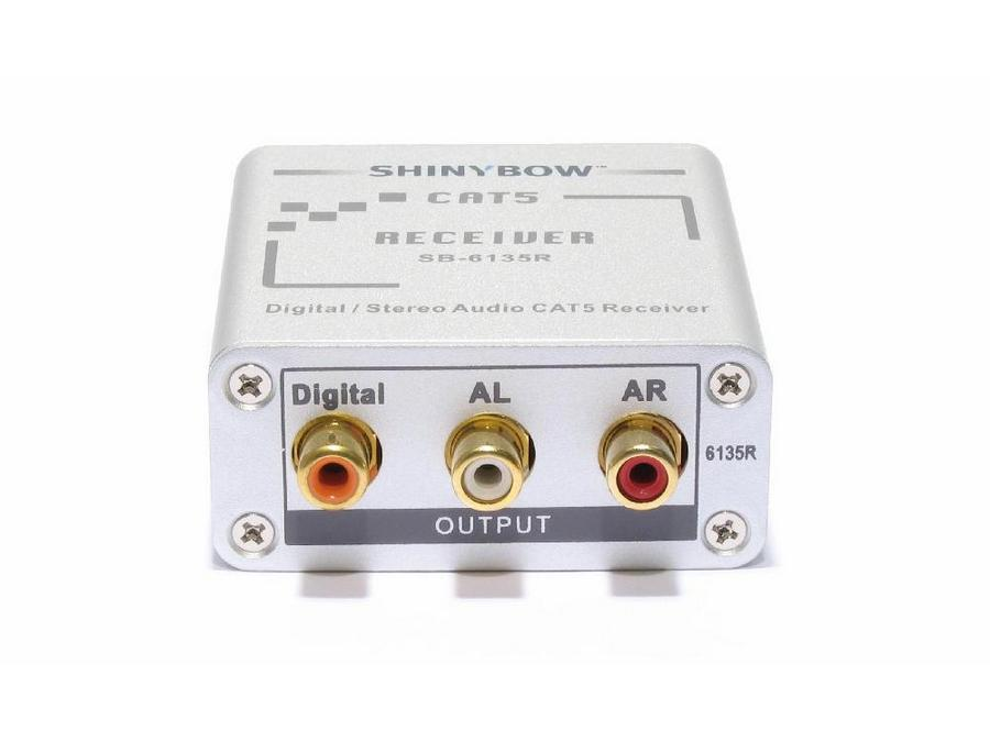 Shinybow SB-6135R Composite Video/Digital and Stereo Audio Extender (Receiver)/Cat5