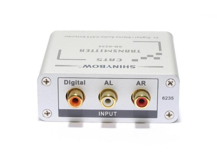 Shinybow SB-6235T Cat5 Composite Video/Digital and Stereo Audio Extender (Transmitter)