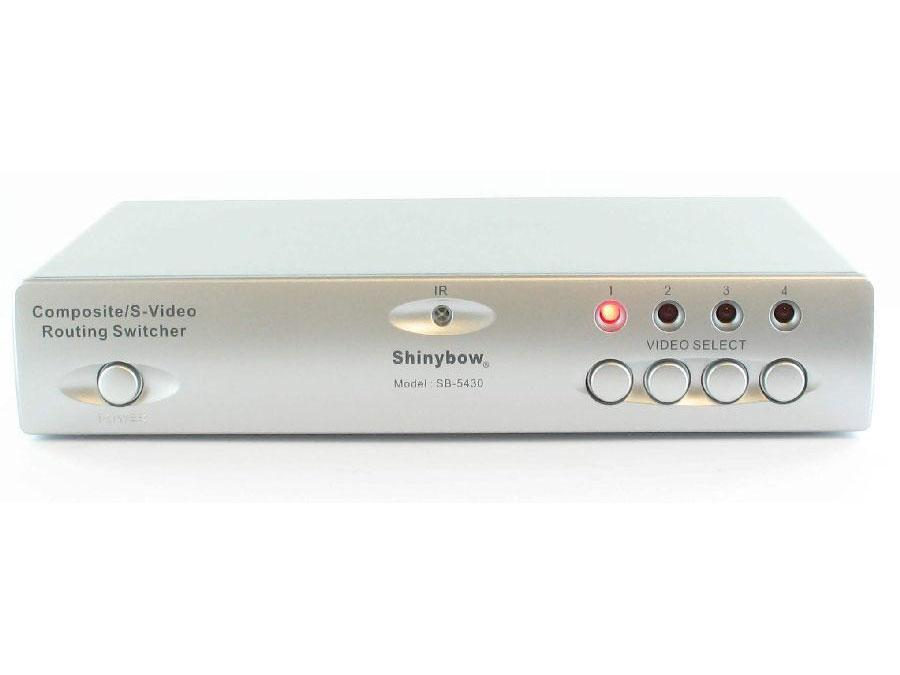 Shinybow SB-5430-b 4x2 Composite/S-Video/Audio Routing Switcher (IR)