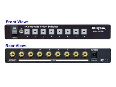 Shinybow SB-5440 8x1 Composite Video Switcher