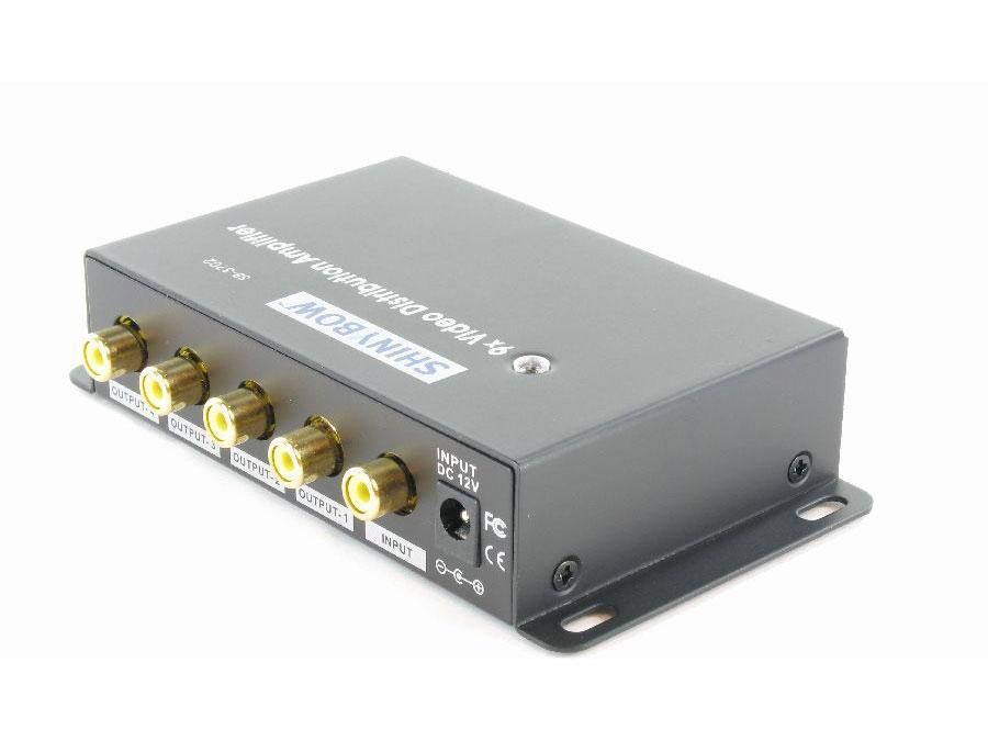Shinybow SB-3702RCA 1x9 Composite Video Digital Distribution Amplifier