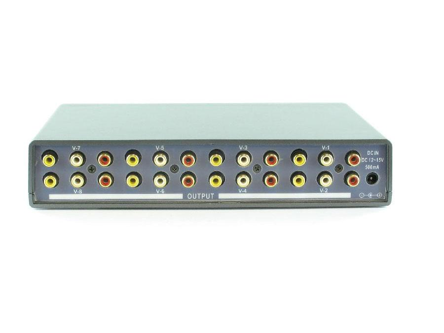 Shinybow SB-3708 1x8 AV Distribution Amplifier