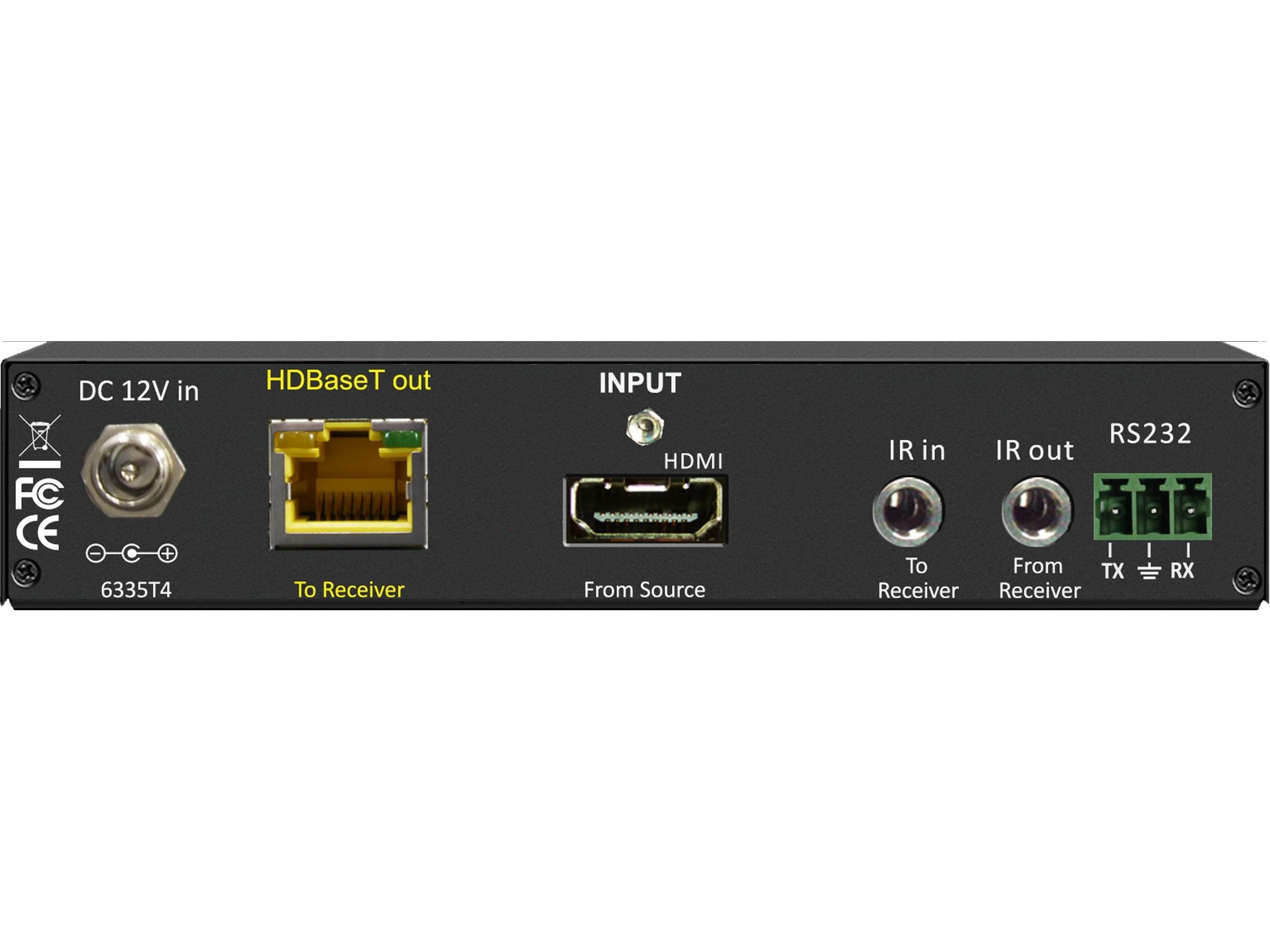 Shinybow SB-6335T4 4 Play HDBaseT Extender (Transmitter) up to 330 ft with 2-way IR/RS-232