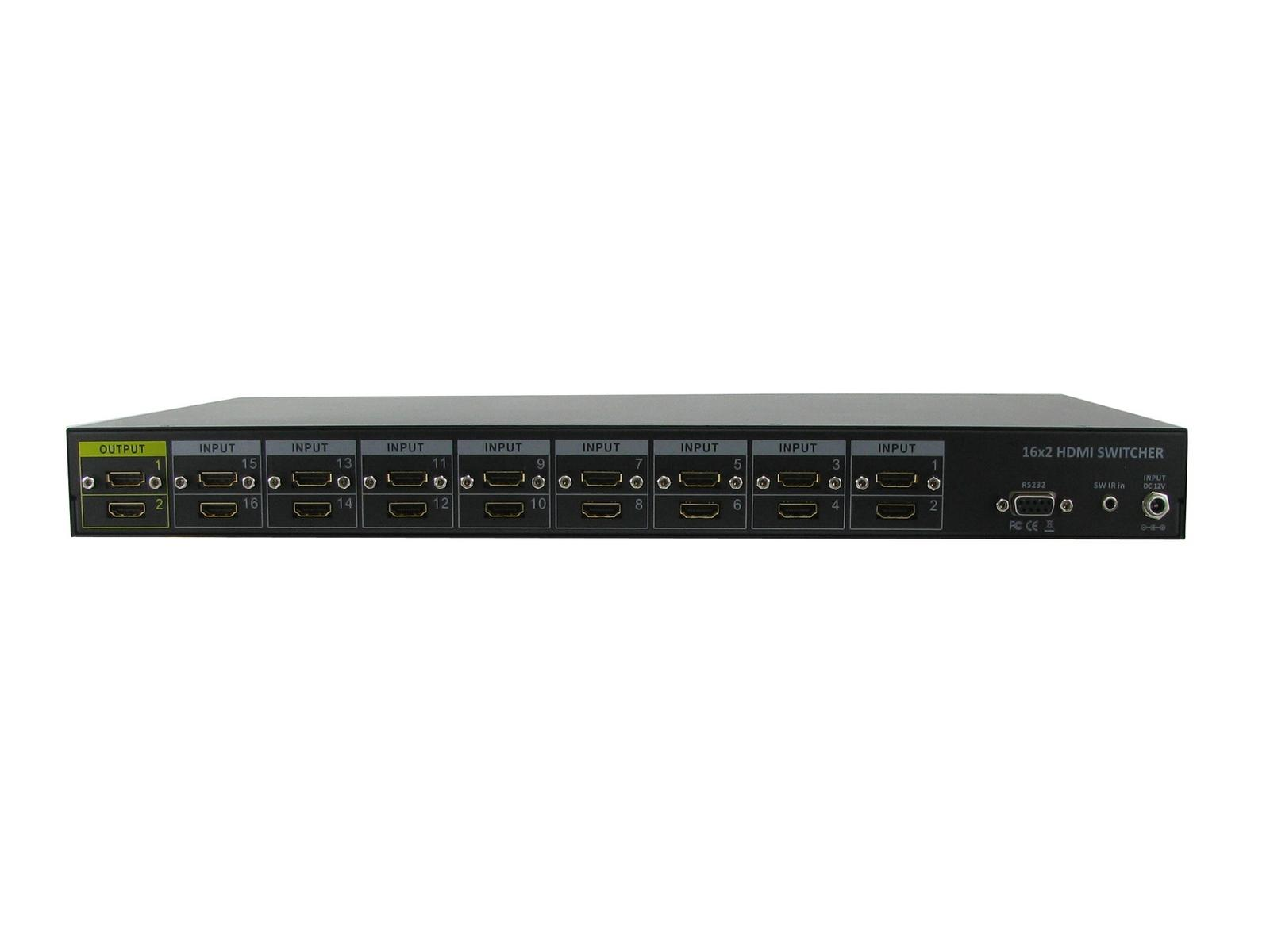 Shinybow SB-5616 16x2 HDMI Routing Selector Switch (both outputs mirrored)