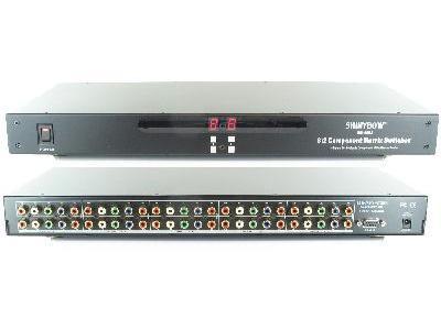 Shinybow SB-5580 8x2 Composite/SV/Audio Matrix Sw  IR RS 232