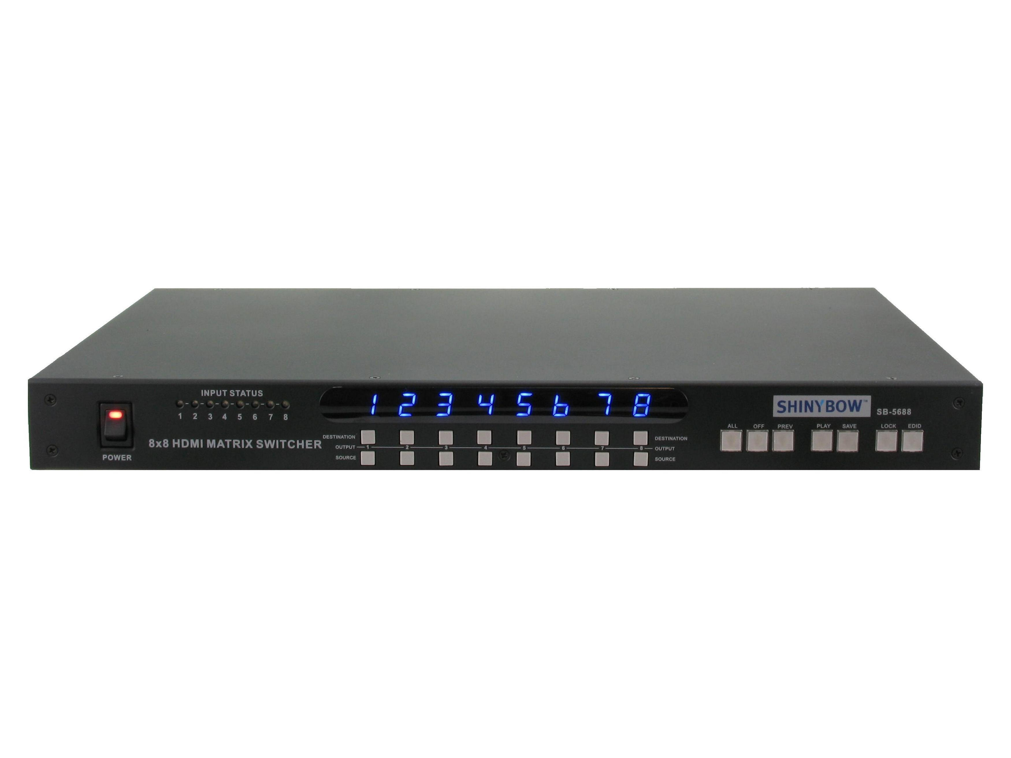 Shinybow SB-5688 8x8 HDMI MATRIX SWITCHER