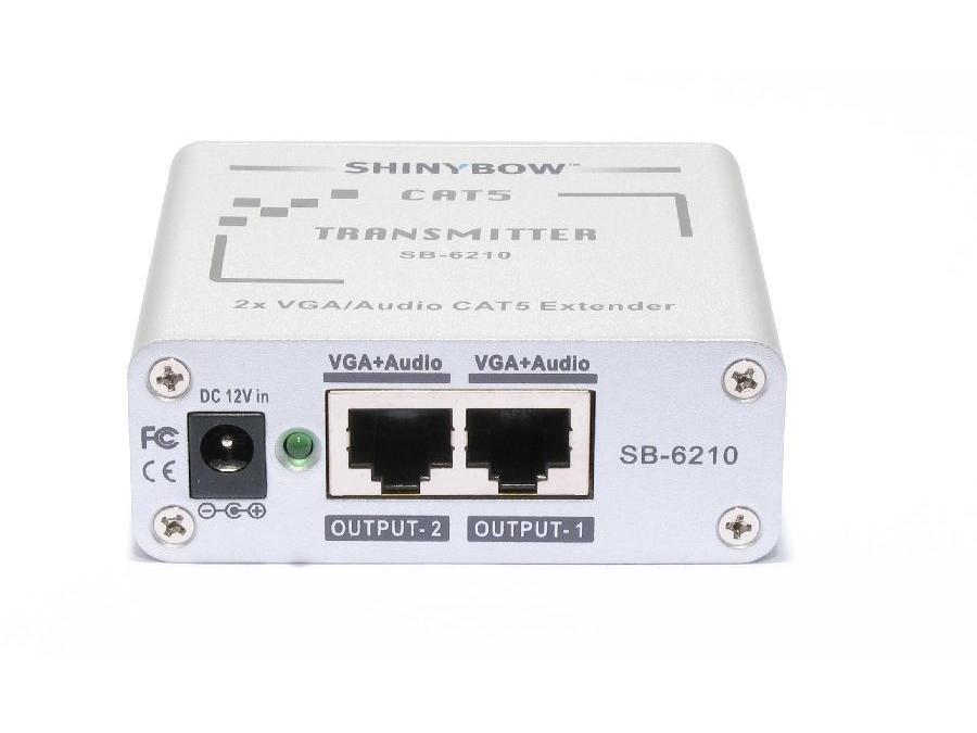 Shinybow SB-6210T CAT5 - VGA RGBHV - Stereo Audio Extender (TRANSMITTER)