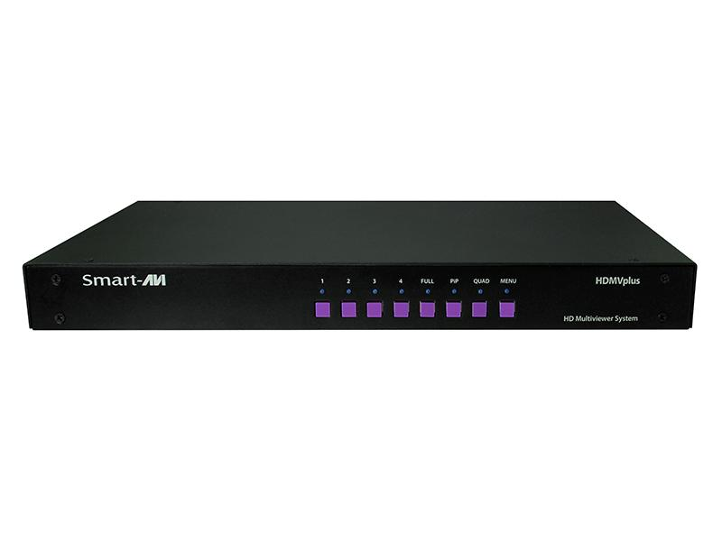 Smartavi SM-HDMV-PLUS 4-Port HDMI/USB RealTime Multiviewer KVM switch PiP/Quad/Full modes