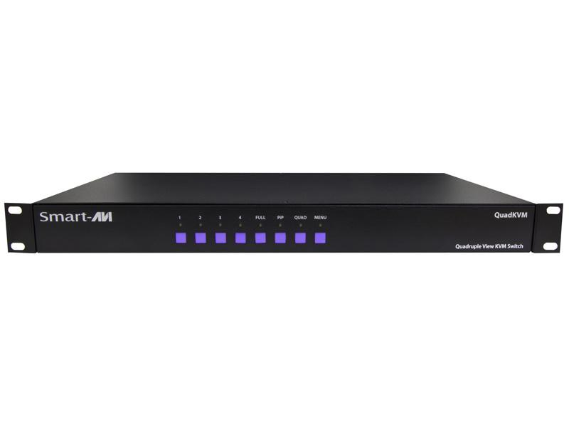 Smartavi SM-QKVM-S 4-Port DVI USB 1.1 QuadKVM switch with PiP/Dual//Full modes/1900x1200