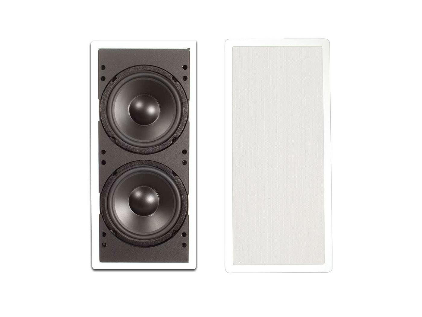 Soliddrive IW200-A KIT Dual 8-in In-Wall Subwoofer with Sealed Enclosure/Amplifier