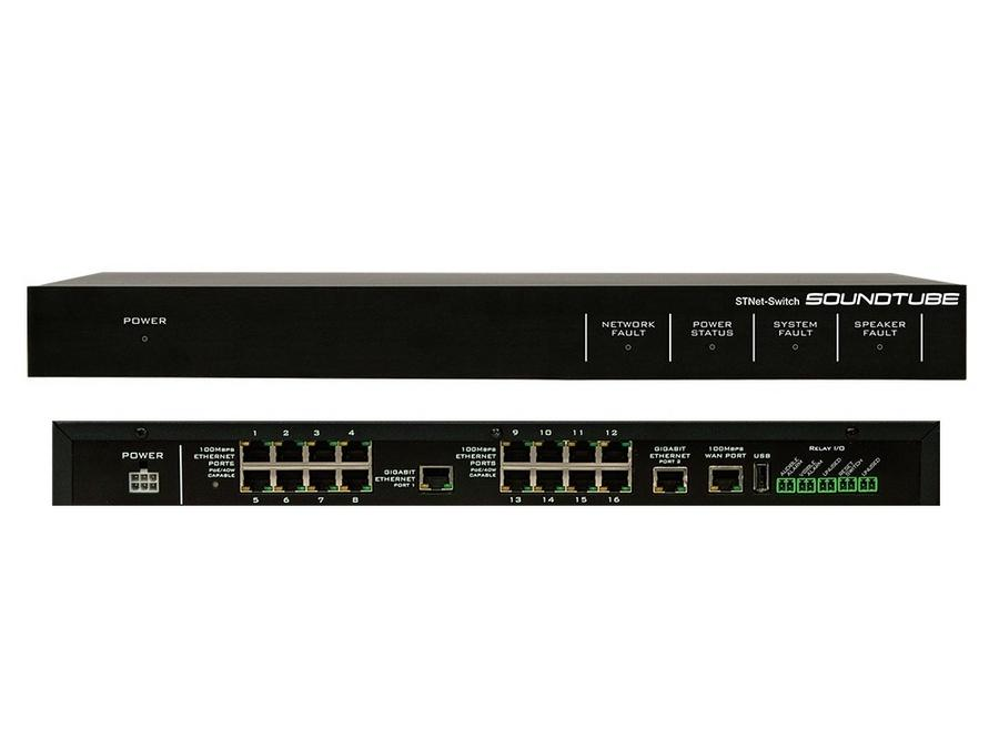 Soundtube STNet-Switch Rack mountable 16-port 40w PoE switcher
