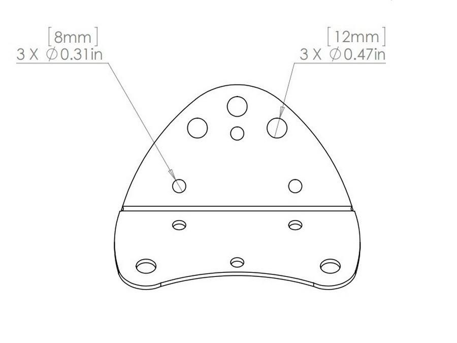 Soundtube AC-LA8-BACK-BK Bent back plate for LA8 series