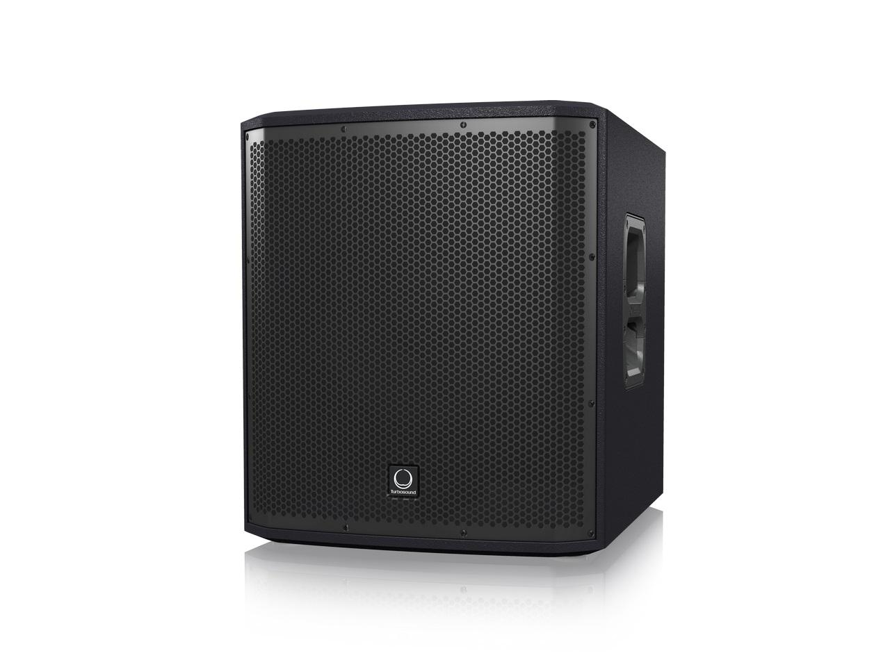 Turbosound iP12B 1000W Powered 12 inch Subwoofer with Dual Amplifiers for Satellite Speakers