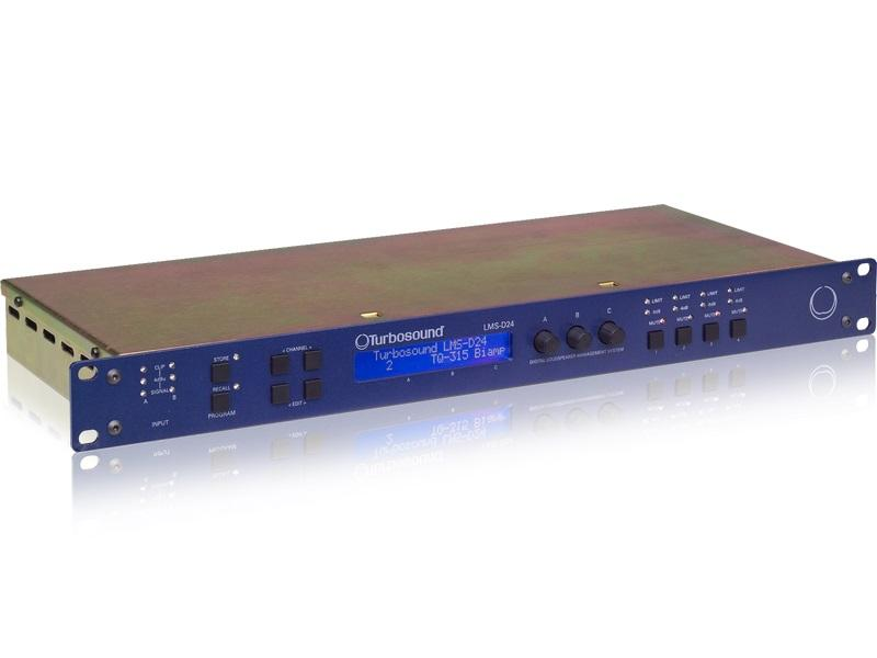 Turbosound LMS-D24 2 Input/4 Output Digital Loudspeaker Management System with BV-Net Card
