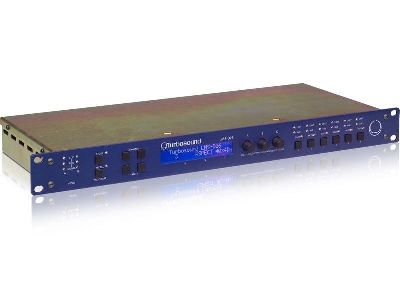 Turbosound LMS-D26 2 Input/6 Output Digital Loudspeaker Management System with BV-Net Card