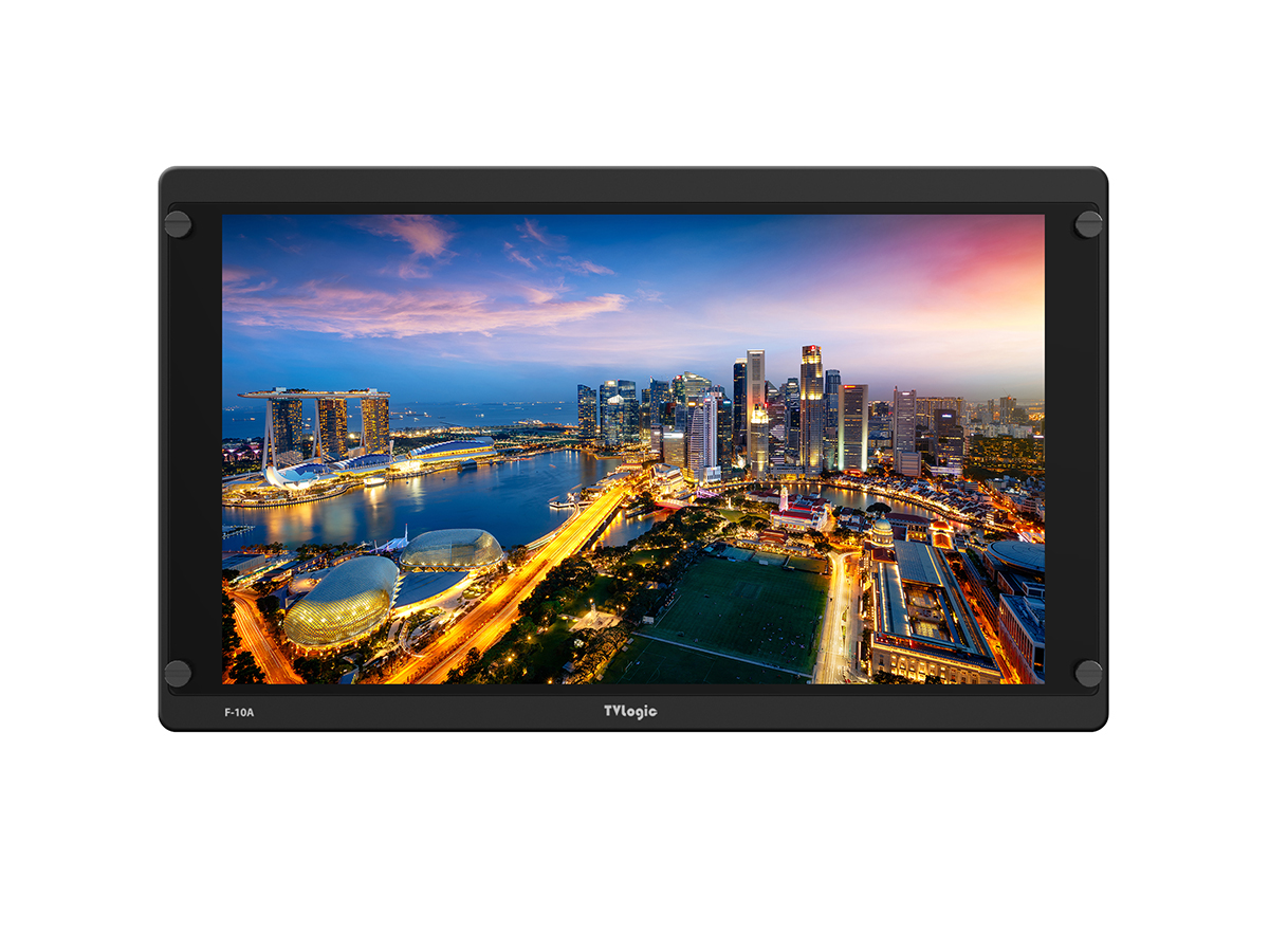 TVlogic F-10A 10 inch FHD HDR HDCP 3G-SDI/HDMI 2.0 LCD Field Monitor with Cast-Aluminum Body