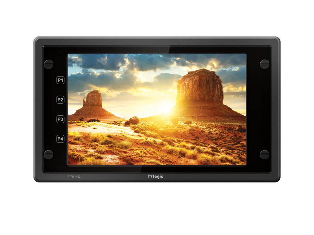 TVlogic F-7H mk2 7 inch FHD 3G-SDI/HDMI 1.4 HDR Field Monitor with Max Luminance 3600 nit
