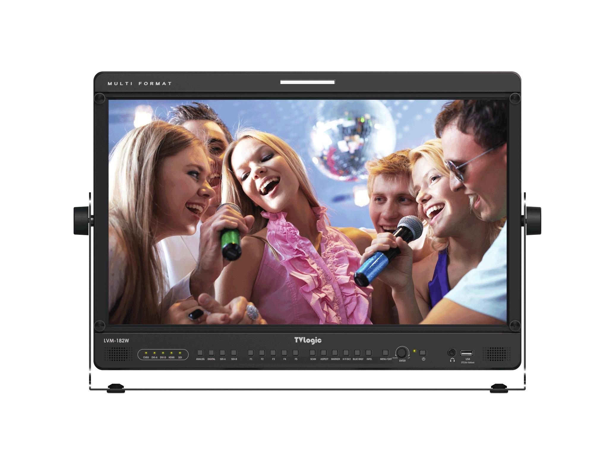 TVlogic LVM-182W-A 18.5 inch 3G-SDI/DVI/HDMI Entry-Level Full-Featured 1366x768 Wide Viewing IPS LCD Monitor