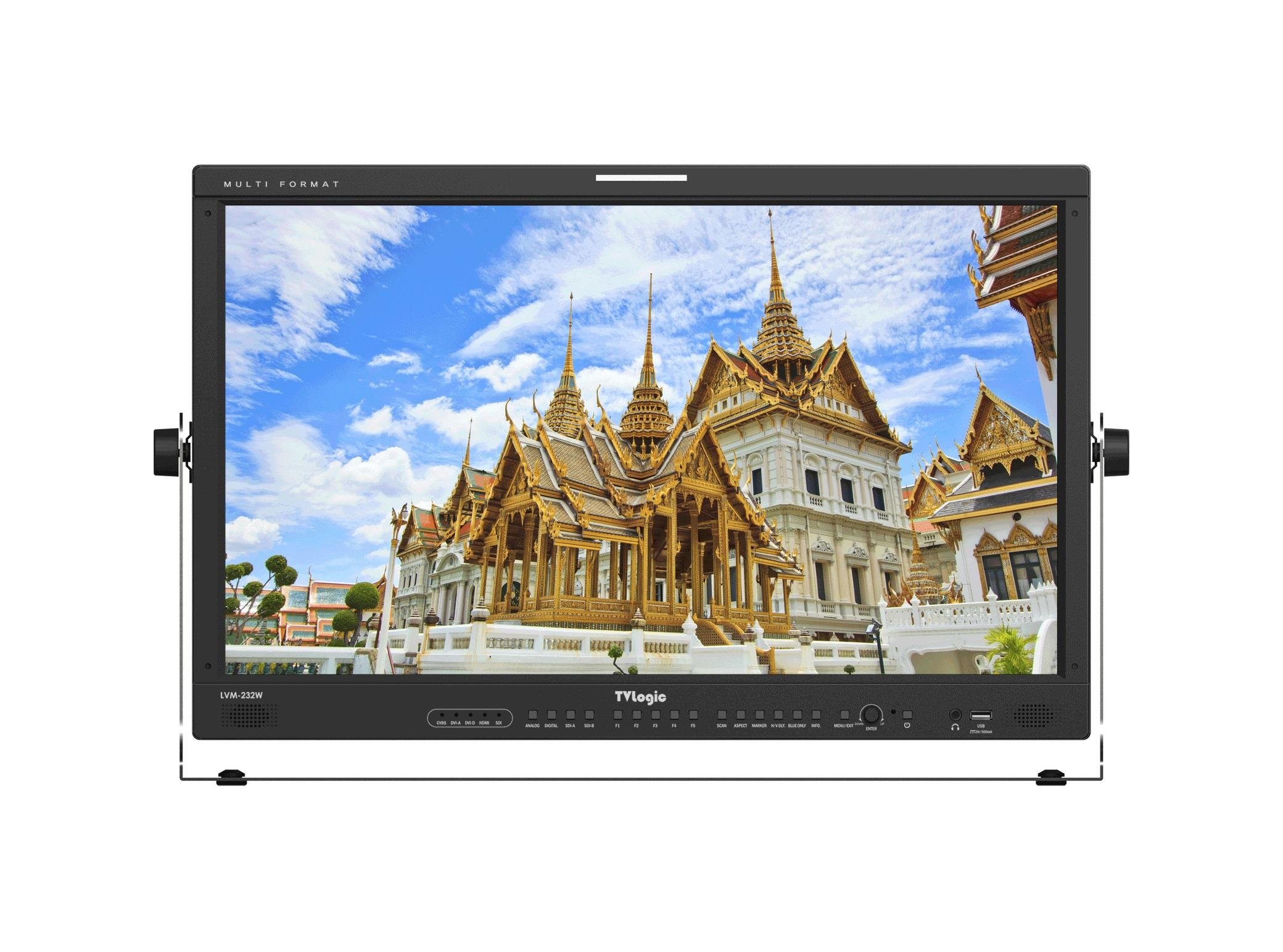 TVlogic LVM-232W-A 23 inch 3G-SDI/DVI/HDMI Entry-Level Full-Featured 1920x1080 Wide Viewing IPS LCD Monitor