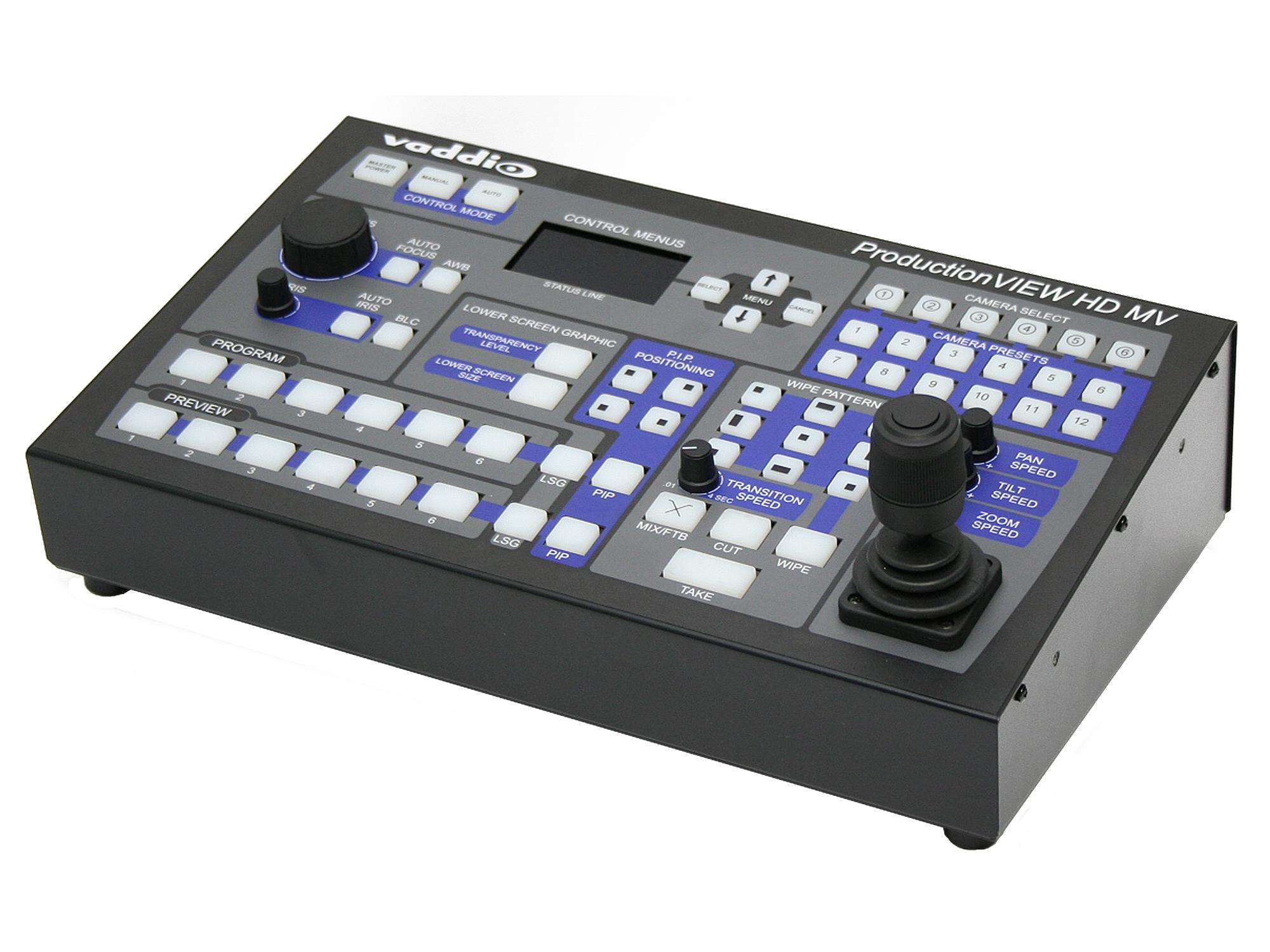 Vaddio 999-5625-000 ProductionVIEW HD/RGBHV/SD MV is a camera control console with multiviewer capabilities
