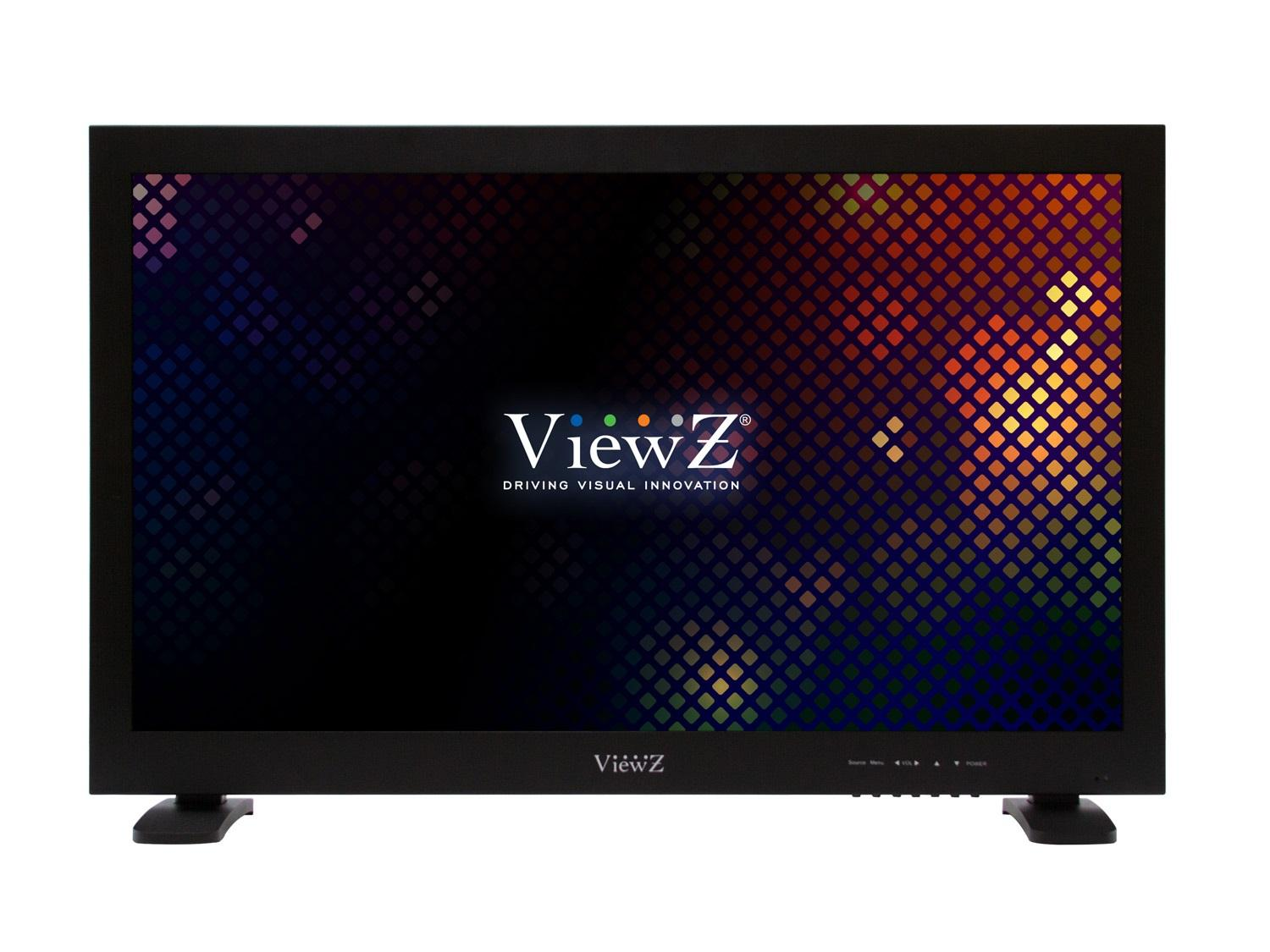 ViewZ VZ-24HX Premium Metal Bezel Hybrid Full HD LED CCTV Monitor for Professional Security
