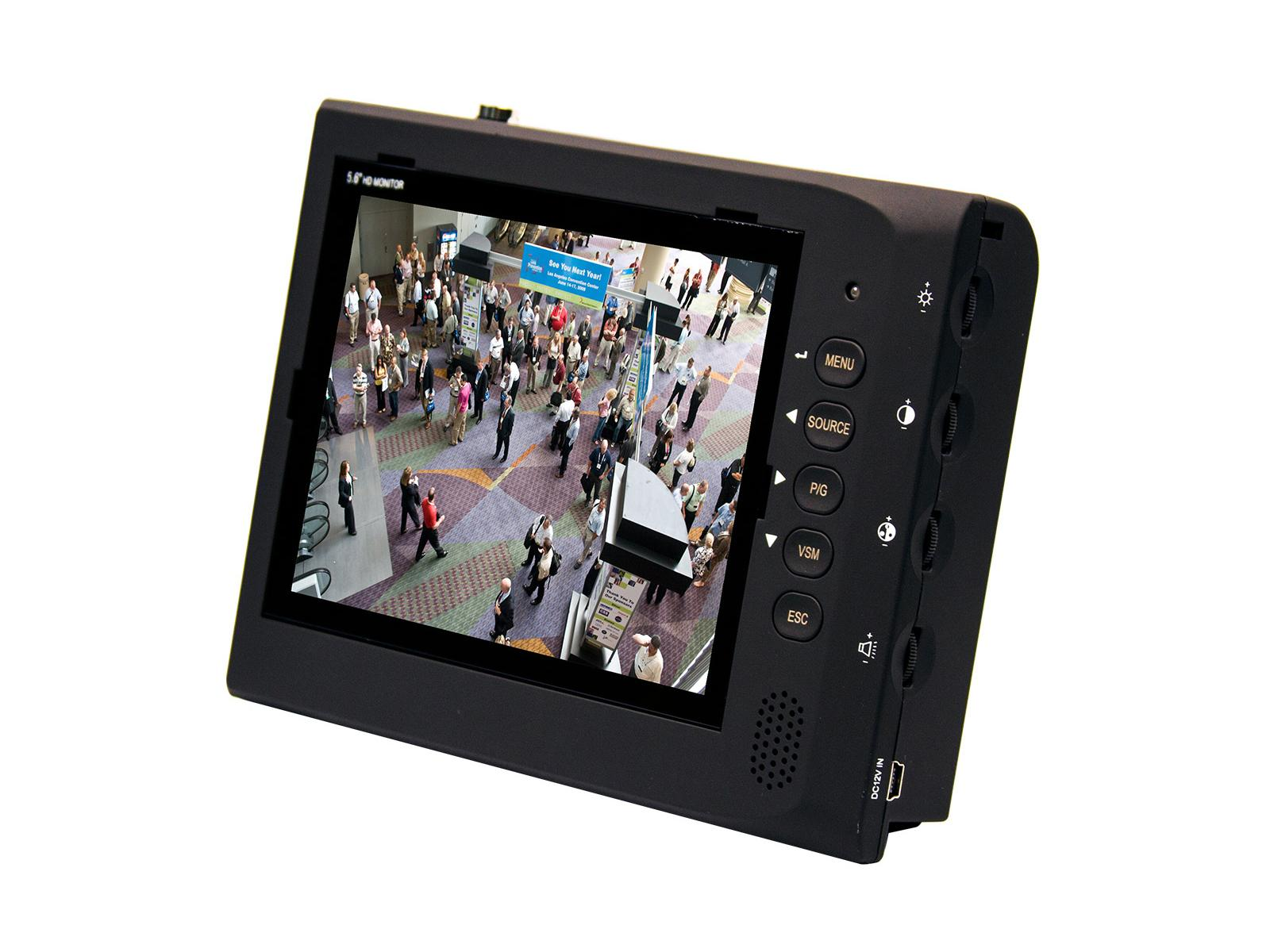 ViewZ VZ-56SM 5 6 inch 640x480 Analog LED CCTV Test Monitor with Audio  Support