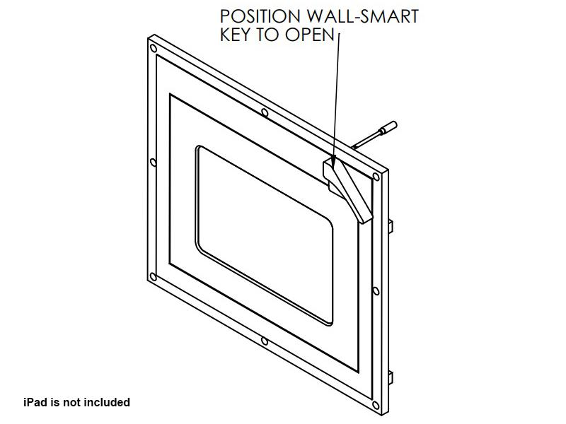 Wall-Smart 10-01-527 Secured Covered In-Wall Mount for Ipad Mini 4 with Hidden Lock