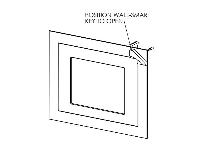 Wall-Smart 10-01-570-WH Secured Retrofit Covered In-Wall Mount For iPad Pro 12.9in - White