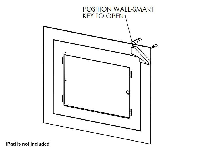 Wall-Smart 10-01-639-BL Secured Retrofit Accessible In-Wall Mount For iPad Pro 12.9in with Grills - Black