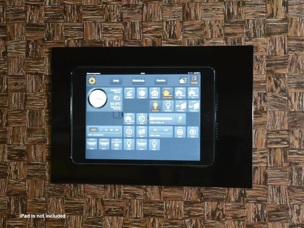 Wall-Smart 10-01-777-BL Retrofit In-Wall Mount for iPad Mini 4/Black