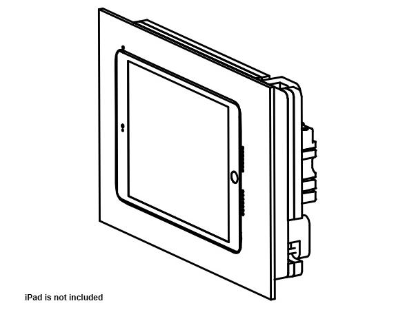 Wall-Smart 10-01-777-WO Retrofit In-Wall Mount for iPad Mini 4 without Paint