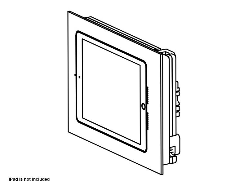 Wall-Smart 10-01-783-WO In-Wall Retrofit Mount for iPad without Paint