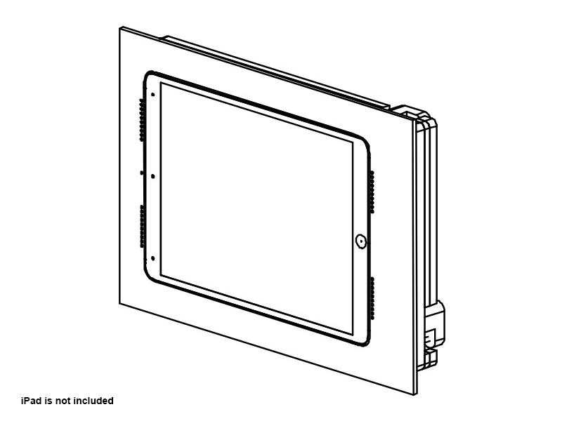Wall-Smart 10-01-796-WO Retrofit In-Wall Mount for iPad Pro 10.5in without Paint