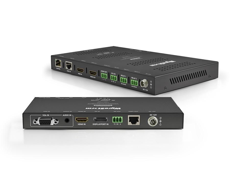 WyreStorm EX-SW-0301-H2 3x1 HDMI/VGA/DP Switching Extender (Transmitter) with Scaling Receiver