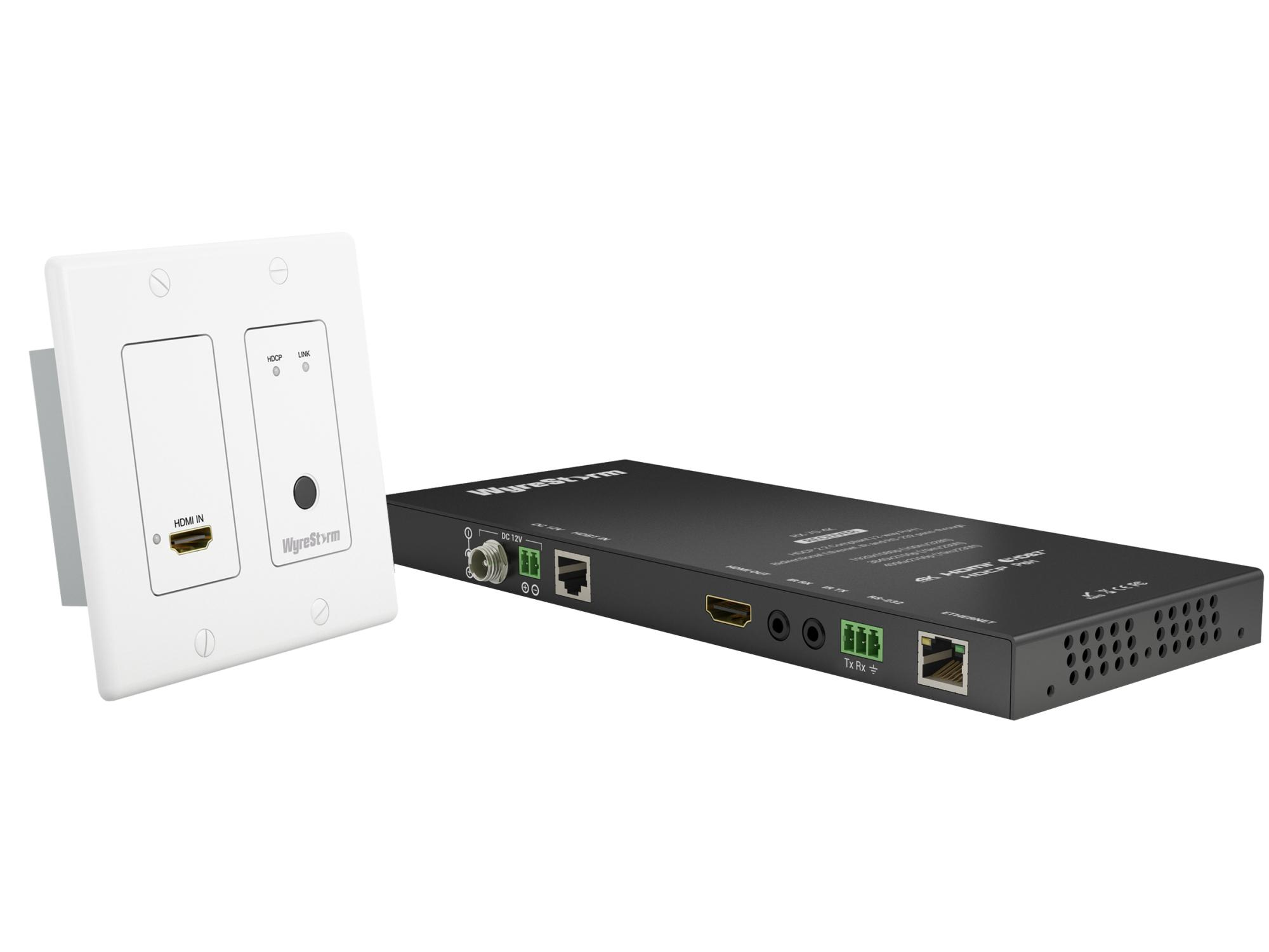 WyreStorm TX-IW-70-POH-KIT HDMI over HDBaseT 2-Gang Decora In-Wall 4K UHD Extender (Transmitter/Receiver) Kit